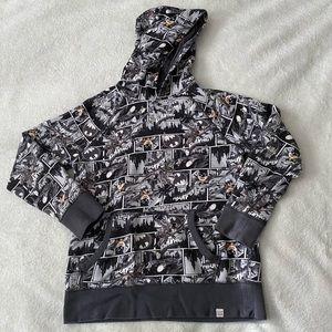 Gap Kids DC Batman grey hoodie boys size 12